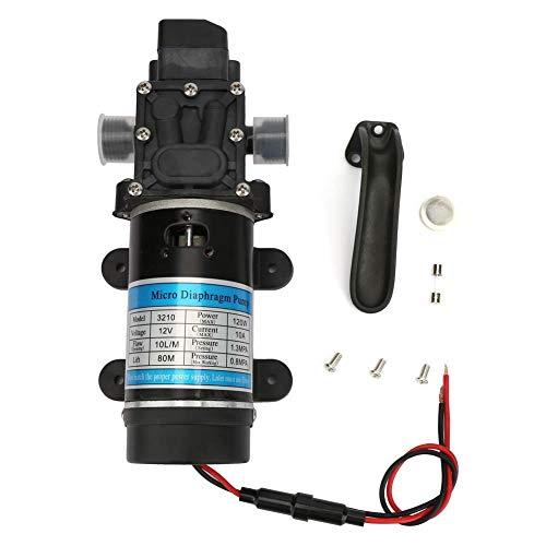 120W Högtrycks Elektriska Vatten Diafragma Pump 10L/ M Själv Priming Pump för Högtryckstvätt Husvagn Rv Marin Fiskebåt(12V/10A)