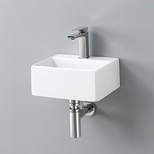 Lavandino Lavabo Appoggio/Sospeso modello Quadro Mini 32x27 cm