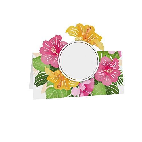 Chaks 6 Marque-Places Fleurs Tropicales 8X8CM