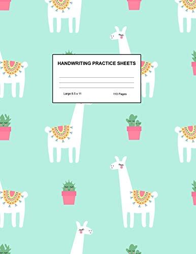 Handwriting Practice Sheets: Cute Blank Lined Paper Notebook for Writing Exercise and Cursive Worksheets - Perfect Workbook for Preschool, ... 3rd and 4th Grade Kids - Product Code A4 9499