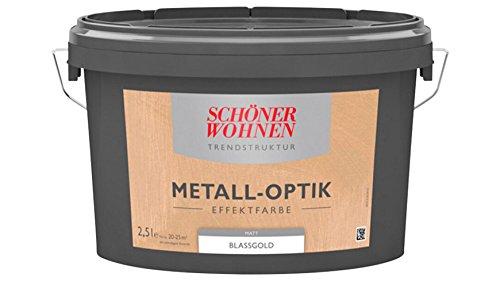 SCHÖNER WOHNEN FARBE Effektfarbe Metalloptik 2,5L blassgold