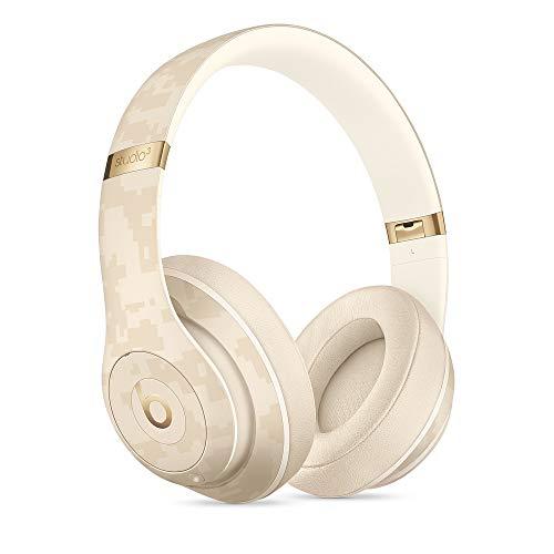 Beats Studio3Wireless Cuffie con cancellazione del rumore – Chip per cuffie AppleW1, Bluetooth di Classe 1, cancellazione attiva del rumore, 22 ore di ascolto–Beige (Mimetico Sabbia del Deserto)