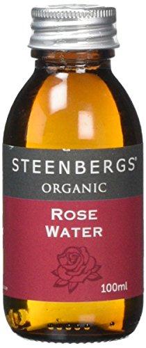 Steenbergs Organic Rose Water 100ml Glass Bottle