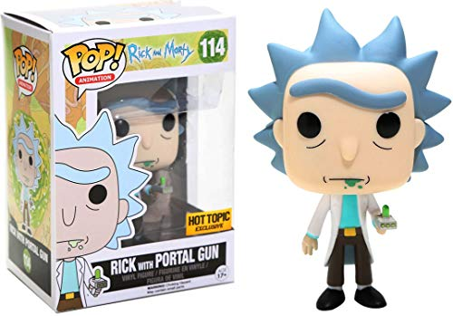 Funko - Figurine Rick et Morty - Rick With Portal Gun Exclu Pop 10cm - 0849803094331