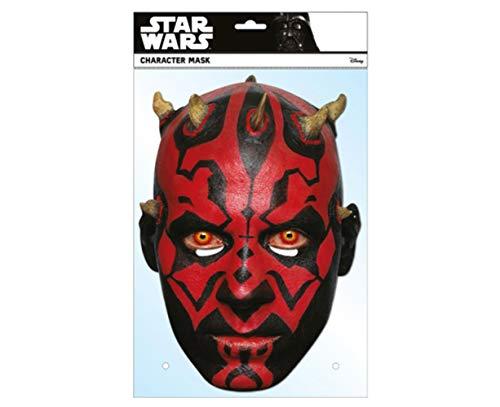 empireposter Star Wars - Darth Maul - Papp Maske aus hochwertigem Glanzkarton mit Augenlöchern, Gummiband - Größe ca. 30x21 cm - Pappmaske, Prominentenmaske, Funmaske, Tiermaske