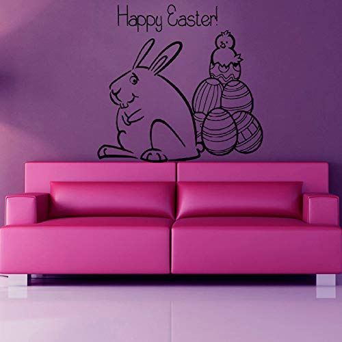 Geiqianjiumai Cartoon Bunny muursticker Vrolijk Pasen schattige dieren muursticker decoratie slaapkamer kunst vinyl sticker muurschildering