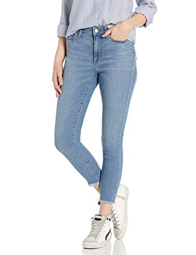 Goodthreads Women's High-Rise Skinny Jeans, Cropped Fray Storm Blue Wash 27 Regular