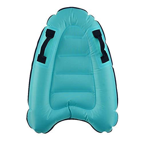 Hourongw Tabla de surf inflable sin bomba, carga máxima: 170 libras desplegada tamaño 52 x 75 x 15 cm tabla flotante para niños adultos natación ayuda piscina flotante