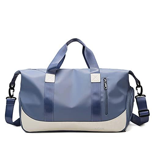 LCAWEI Bolsa de viaje de 25,85 L (14 colores disponibles) para mujer, con bolsillo húmedo y compartimento para zapatos para llevar durante la noche, bolsa de gimnasio de gran capacidad