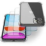 Transparente Coque pour IPhone 11 avec Verre Trempé/Film Protection écran (2 Pack) – Transparent...