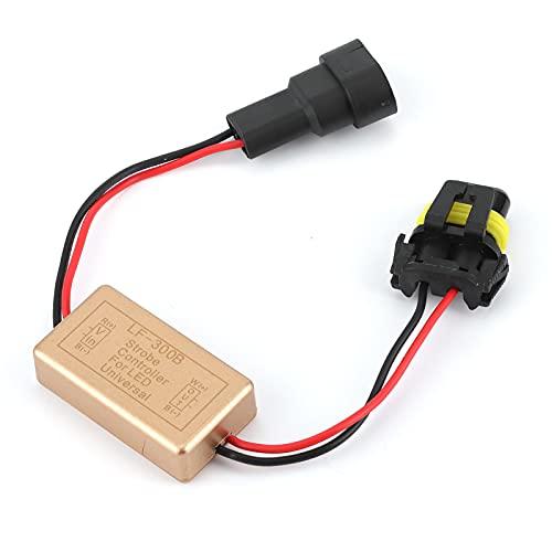 Aramox Strobe Controller, LF-300B Flash Strobe Controller Module Box Led Flasher Module Lampeggiante Continuo per Faro LED Fendinebbia Piccola Luce 9005 9006 9012