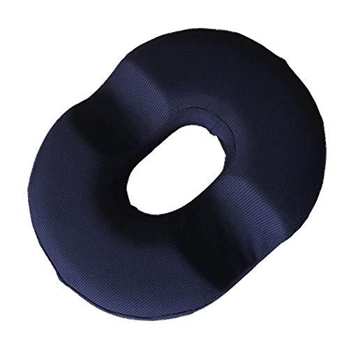 Sahgsa Donut Sitzkissen Memory Foam Pillow Schmerzlinderung für Hämorrhoiden Super Comfort Round Ring Po Kissen Hilft bei der Linderung von Post-Natal-, Prostata-, Post-OP- und Rückenschmerzen