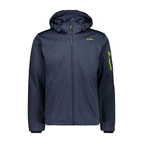 CMP Herren Windproof and Waterproof Lightweight Softshell Jacket WP 8.000 Jacke, Blue Cosmo Melange, 54