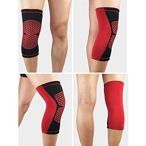 Tuzi Qiuge Außen Knie Bein atmungsaktiv Anti-Kollisionssport Protektoren Größe XL QiuGe (Color : Red)