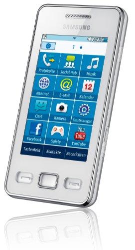 Samsung Star II S5260 Smartphone (7,62 cm (3 Zoll) Touchscreen, 3MP Kamera, MP3-Player, WLAN, Bluetooth, t9-Trace) ceramic-white