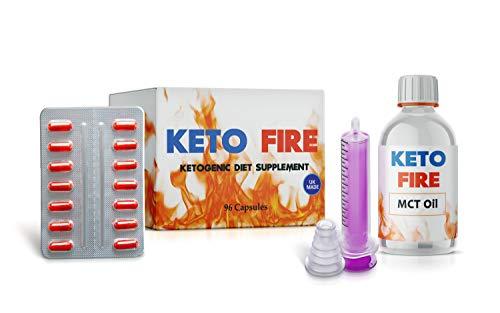 Keto-Diät *Ultimative* Gewichtsverlust-Pillen und MCT-Öl (mit Dosierspritze) – zur Fettverbrennung - 96 Kapseln (Kapseln und MCT-Öl)