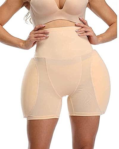 Butt Lifter Hip Enhancer Gepolsterte Shaper Höschen, Crossdresser Plump Hüftpolster Transgender Frauen Fake Ass Unterwäsche (Color : Beige, Size : 3XL)
