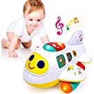 WITALENT Baby Toy for 1 Years Olds Boys Girls Bump & Go Airplane Baby Toy 12-18 Months Music Light-Up Toddlers Toy Baby Boy Toys for 6 9 12 18 Months Educational Toys Birthday for 1 Year Old