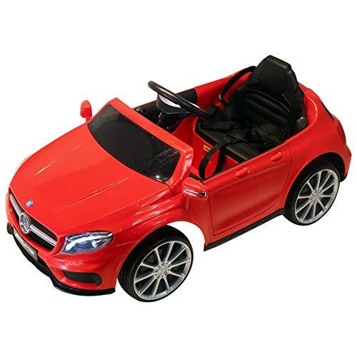 HOMCOM Mercedes Benz AMG Lizenz Kinderfahrzeug Elektroauto Kinder 1 x 6 V Motor Fernbedienung USB-Anschluss für MP3 Licht Rot 100 x 58 x 46 cm