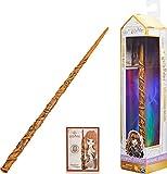 Wizarding World Harry Potter - Authentischer Hermine Granger Zauberstab aus Kunststoff mit Zauberspruch-Karte, ca. 30,5 cm