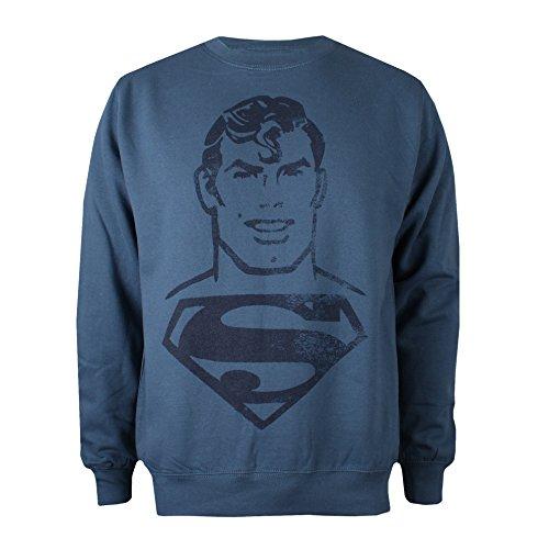 DC Comics Superman Acid Wash Jersey, Azul, XXL para Hombre