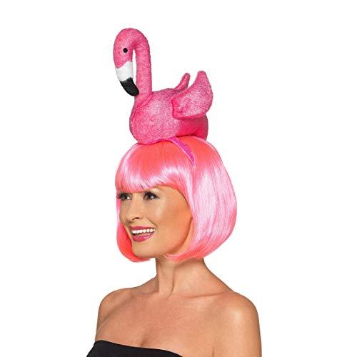 NET TOYS Aufregender Flamingo-Hut für Erwachsene - Rosa - Originelle Party-Kopfbedeckung Paradies-Vogel - Perfekt geeignet für Festival & Straßenkarneval