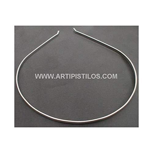 Artipistilos® metallic hoofdband - 4 mm Wide X 15 cm hoog, zilver - haarband van metaal