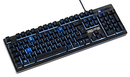 snakebyte PC Gaming-Tastatur Pro - Offiziell lizenzierte FC Schalke 04 Gaming-Tastatur Pro - S04 Gaming-Tastatur Pro mit LED Beleuchtung - QWERTZ - Deutsches Layout