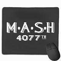 MASHディストレストヘッジ マウスパッド 25×30 大判 ノンスリップ 防水 ゲーミング おしゃれ マウスの精密度を上がる