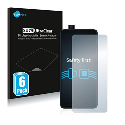 savvies 6-Pezzi Pellicola Protettiva Compatibile con Xiaomi Mi 9T Protezione Schermo Trasparente
