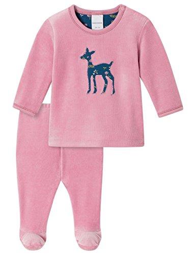 Schiesser Mädchen Baby Anzug lang 2-teilig Zweiteiliger Schlafanzug, Rot (Rosa 503), 74 (Herstellergröße: 074)