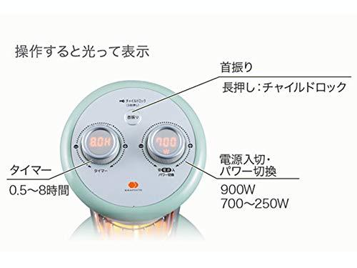 アラジン(Aladdin)電気ストーブ遠赤グラファイトヒーターホワイトCAH-1G9B-W