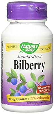 Bilberry, Standardized, 90 Capsules - Nature's Way from Nature's Way