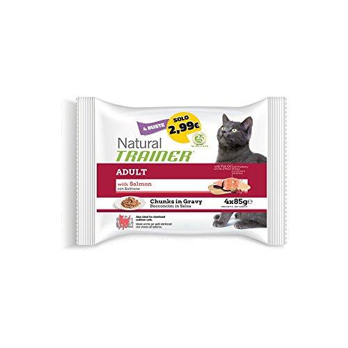 TRAINER Trainer Natural Cat Flow Salmone GR. 85 X 4 Cibo Umido Per Gatti