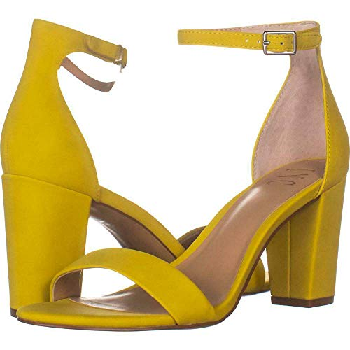 INC International Concepts Womens Kivah Leather Open Toe Lemon