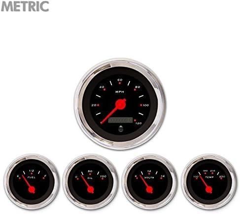 Regular dealer Aurora Instruments GAR251ZMXQABCE Pegged Ranking TOP12 5-Piece Se Black Gauge
