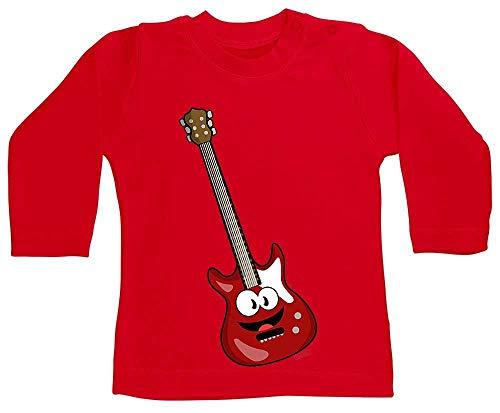 Hariz - Camiseta de manga larga para bebé, diseño de guitarra eléctrica...