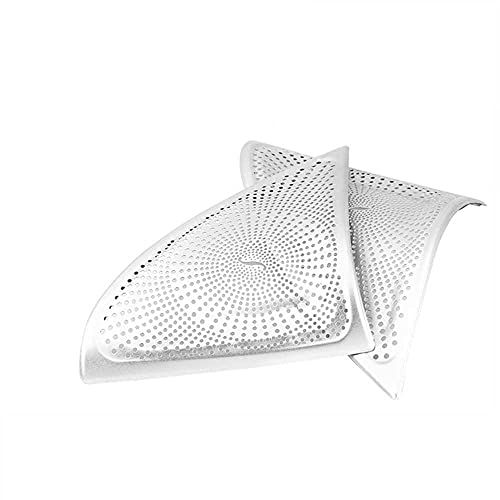 SAXTZDS Cubierta de decoración de Altavoz de Acero Inoxidable Interior de Sonido de Coche, Apto para Mercedes Benz Clase E W213 2016-2017
