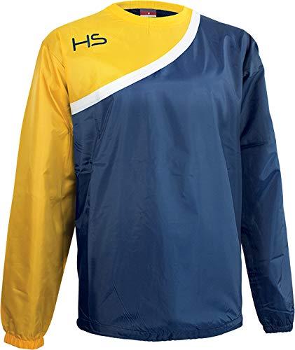 HS F15 Rain Jacket Unisex, Unisex adulto, Chaqueta Rain, HTF15RJ9993-M, Azul Marino Blanco Amarillo, M