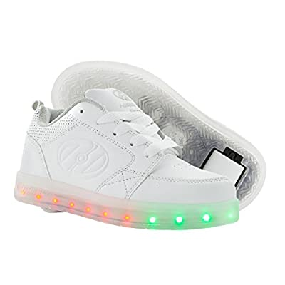 Heelys Unisex-Kids Premium Lo Wheeled Heel Shoe,white,1 M US Little Kid