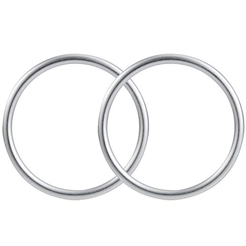 Baby Sling Ringe Tragetücher Ringe Tragbar Aluminiumring für Kleinkinder Neugeborene Kinder Tragetuch Silber 2 Stücke