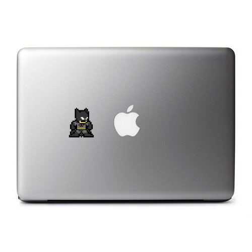 8-Bit Batman Decal for MacBook, iPad Mini, iPhone 5S, Samsung Galaxy S3 S4, Nexus, HTC One, Nokia Lumia, Sony