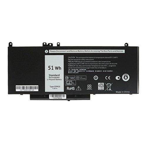 ANTIEE 7.4V 51WH G5M10 4Cell Laptop Batería para DELL Latitude 14 E5450...