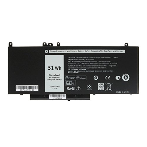 "7.4V 51WH Laptop Battery G5M10 for DELL Latitude E5450 E5550 Notebook 15.6"" G5M10 8V5GX R9XM9 WYJC2 1KY05-SIKER"