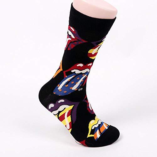 GJKS sokken persoonlijkheid sokken in kousen 2019 mannen casual sport katoenen sokken persoonlijkheid deodorant zweet 5 paar