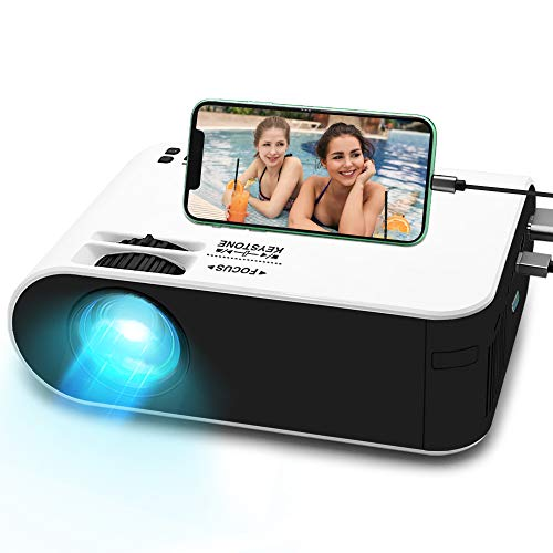 "Mini Beamer Full HD, WayGoal Native 720P 5500 Lumen Video Projektor tragbarer Heimkino Beamer, 1080P Unterstützt und 55000 St. LED, 200"" Display Kompatibel mit USB / HD / ST/ AV / VGA/IOS/Android"