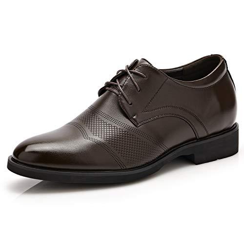 Sunny&Baby Classico scarpe da uomo in pelle da uomo altezza crescente 6cm Business Oxford traspirante per gentiluomini Resistente all'abrasione ( Color : Brown , Size : 38 EU )
