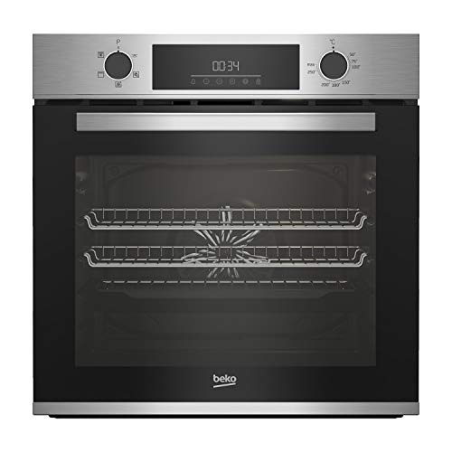 41y5sFjQGvL. SS500  - Beko CIFY81X AeroPerfect Electric Single Fan Oven With SteamShine Cleaning - Stainless Steel