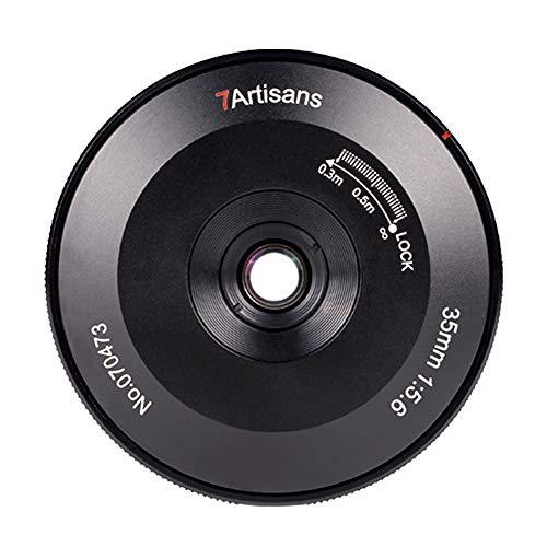 7artisans Objetivo ultrafino para Sony EMirrorless Camera A6000 A6300 A6400 de 35 mm f5.6