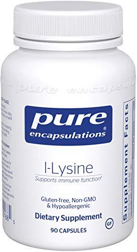 Pure Encapsulations - l-Lysine - Hypoallergenic Supplement Helps Maintain Healthy Arginine Levels and Immune Function - 90 Capsules
